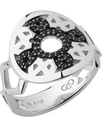 Links of London - Timeless Sterling Silver & Black Sapphire Ring - Lyst