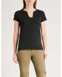 Zadig & Voltaire - Tunys V-neck Cotton-jersey T-shirt - Lyst