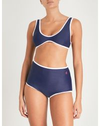 Perfect Moment - Ladies Navy Retro High-waist Bikini - Lyst