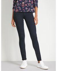 Claudie Pierlot - Velvet Waistband Skinny High-rise Jeans - Lyst
