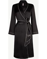 8c522b822aa8 Agent Provocateur Matinee Kimono Black in Black - Lyst