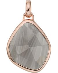 Monica Vinader - Siren Medium 18ct Rose Gold-plated And Grey Agate Pendant - Lyst