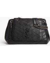 Saint Laurent - Nolita Monogram Medium Leather Shoulder Bag - Lyst 4ee70c63cfd78