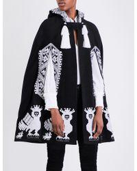 Yuliya Magdych | Alkonst Embroidered Stretch-wool Cape | Lyst
