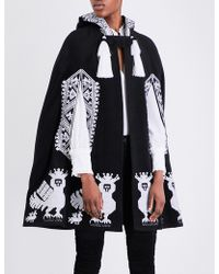 Yuliya Magdych - Alkonst Embroidered Stretch-wool Cape - Lyst