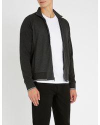 Michael Kors - Striped-trim Cotton-jersey Jacket - Lyst