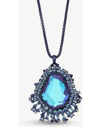 Kendra Scott - Daenerys Silver-tone And Dichroic Glass Pendant Necklace - Lyst