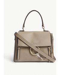 Chloé - Faye Small Grained Leather Shoulder Bag - Lyst