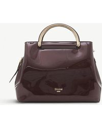 Dune - Berry Red Daandelion Faux Leather Varnished Tote Bag - Lyst