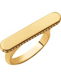 Links of London - Narrative Long 18ct Gold Vermeil Ring - Lyst