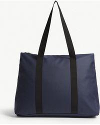 Rains - Blue Waterproof City Tote Bag - Lyst