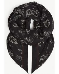 The Kooples - Horror Show Scarf - Lyst