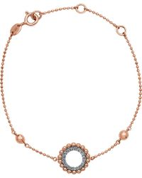 Links of London   Effervescence 18ct Rose Gold And Diamond Bracelet   Lyst