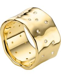 Monica Vinader - Siren Scatter 18ct-gold Plated Ring - Lyst