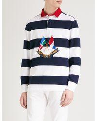 Polo Ralph Lauren - Navy & White Cross Flags Rugby Shirt - Lyst