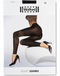 Wolford   Velvet De Luxe Leggings   Lyst