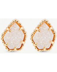 Kendra Scott - Tessa 14ct Gold-plated And Drusy Stone Earrings - Lyst