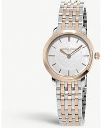 Frederique Constant - Fc-200whs3b-2 Slimline Gold Pvd And Stainless Steel Watch - Lyst
