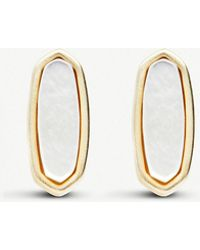 a47063b25 Kendra Scott - Mae 14ct Gold-plated Stud Earrings In Ivory Pearl - Lyst