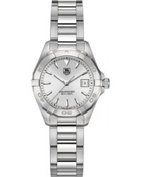 Tag Heuer - Way1411ba0920 Aquaracer Polished Steel Watch - Lyst