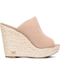 MICHAEL Michael Kors - Hastings Suede Wedge Sandals - Lyst