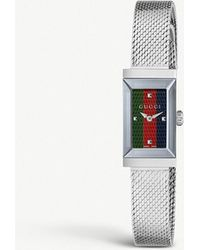 7e15568a5b2 Gucci Ya128405 G-Frame Mother-Of-Pearl And Stainless Steel Watch ...