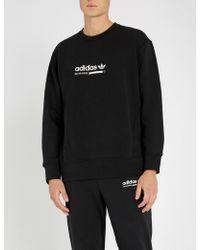 adidas - Kaval Logo-print Cotton-jersey Sweatshirt - Lyst