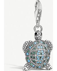 Thomas Sabo - Charm Club Sterling Silver And Turquoise Tortoise Charm - Lyst