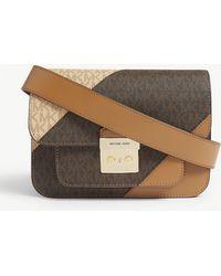 a8d801da767b MICHAEL Michael Kors Sloan Editor Md Chain Shoulder Bag Multi Stripe ...