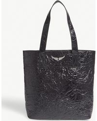 Zadig & Voltaire | Shadow Creased Patent Leather Tote | Lyst
