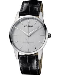 Corum - Heritage 1957 Stainless Steel And Alligator Watch - Lyst