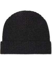 Johnstons - Plain Ribbed Cashmere Beanie - Lyst