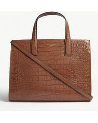 Kurt Geiger - Croc Embossed Leather Tote - Lyst