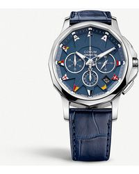 Corum - 984.101.20.0f03.ab12 Admirals Legend 42 Stainless Steel And Leather Strap Watch - Lyst