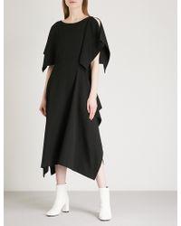 Limi Feu - Draped Wool-blend Dress - Lyst