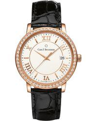 Carl F. Bucherer - 00.10311.03.15.11 Adamavi Rose-gold Sapphire Crystal Diamond And Leather Watch - Lyst