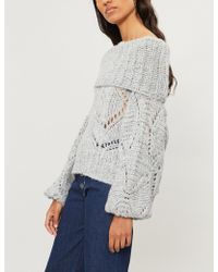 Free People - Nimbus Off-the-shoulder Knitted Jumper - Lyst