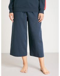 Tommy Hilfiger - Technical Cropped Jersey Cotton-jogging Bottoms - Lyst