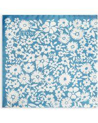 Eton of Sweden - Floral Print Silk Pocket Square - Lyst