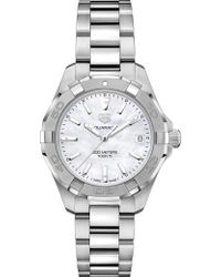 Tag Heuer - Wbd1311.ba0740 Aquaracer Lady Nacre Steel And Mother Of Pearl Quartz Watch - Lyst