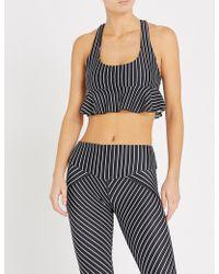 L'urv - Earning Stripes Frill-detail Stretch-jersey Bralette - Lyst
