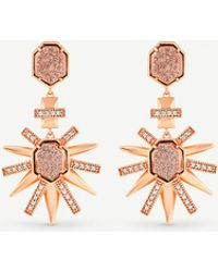 Kendra Scott - Allie 14ct Rose Gold-plated - Lyst