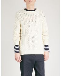 J.W. Anderson | Logo Cable-knit Knitted Jumper | Lyst