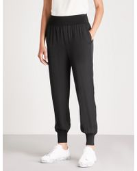 Theory - Silk Trousers - Lyst