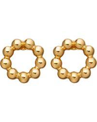 Astley Clarke - Beaded Stilla 18ct Yellow Gold-plated Stud Earrings - Lyst
