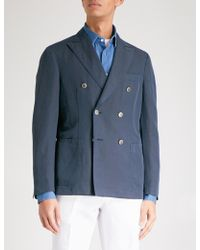 Slowear - Chinolino Double-breasted Linen And Cotton-blend Jacket - Lyst