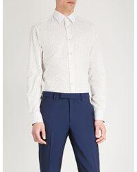 Paul Smith - Cherry-print Slim-fit Cotton Shirt - Lyst