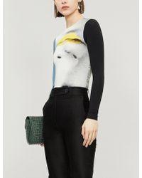 ELLISS - Anna Face-print Stretch-cotton Body - Lyst