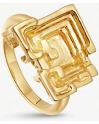 Missoma - Geo Bismuth Terra 18ct Gold-plated Ring - Lyst