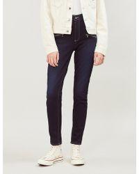 PAIGE - Edgemont Mid-rise Skinny Jeans - Lyst
